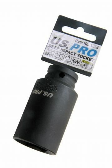 "32mm 1/2"" Drive Deep Imact Socket 6 Point Single Hex US PRO 1368"